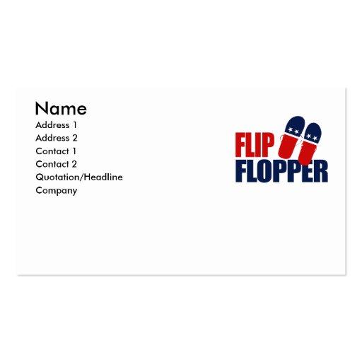 Flip Flopper Romney Business Card Template