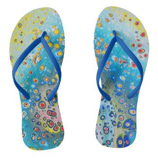 Flip Flops - Abstract Design - Coral Reef