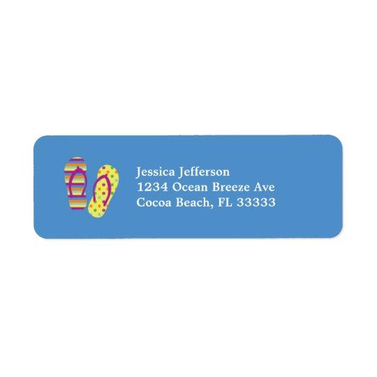 Flip Flops Address Avery Label