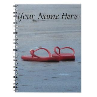 Flip Flops at the Beach Notebook