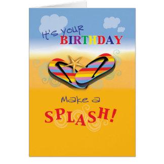 Flip Flops Beach Birthday Greeting Card