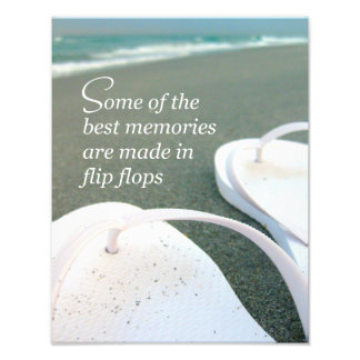 Flip Flops Beach Quote Photo