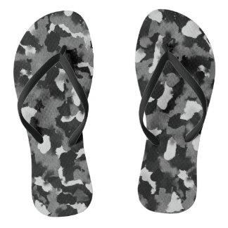 Flip Flops Black White Abstract