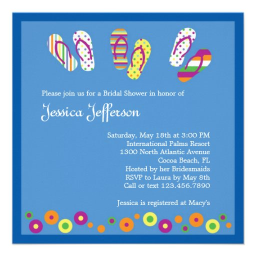 Flip Flops Bridal Shower Invitation