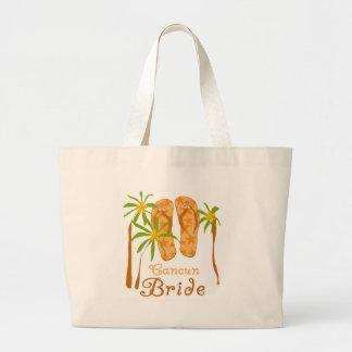 Flip Flops Cancun Bride Jumbo Tote Bag