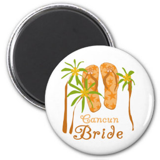 Flip Flops Cancun Bride Magnet