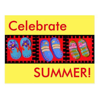Flip Flops Celebrate SUMMER! Postcard