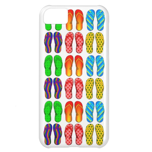 Flip Flops Colorful Fun Beach Theme Summer Gifts iPhone 5C Cases