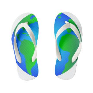 Flip Flops, Earth Revolves Around Me Kids Kid's Thongs