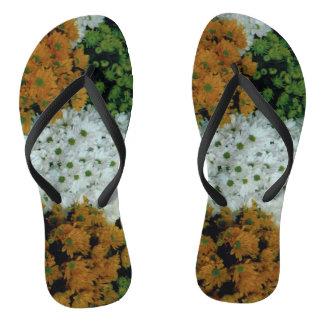 Flip Flops: Floral Slippers Thongs