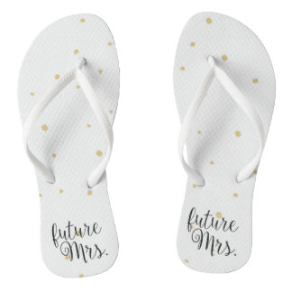 Flip-Flops - Gold Dots future Mrs. Thongs