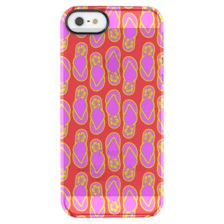 Flip Flops Hawaiian Style Clear iPhone SE/5/5s Case