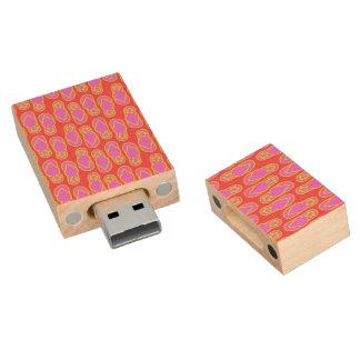 Flip Flops Hawaiian Style Wood USB 2.0 Flash Drive