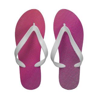 Flip Flops Hot Pink to Purple Gradient Waves
