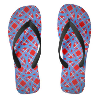 Flip flops Jimette Design blue red and white