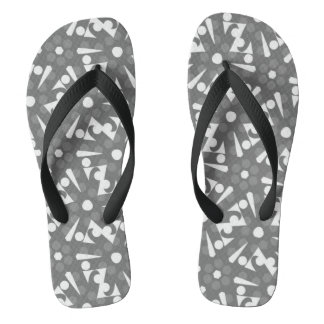 Flip flops Jimette Design grey and white