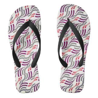 Flip flops Jimette Design red grey white