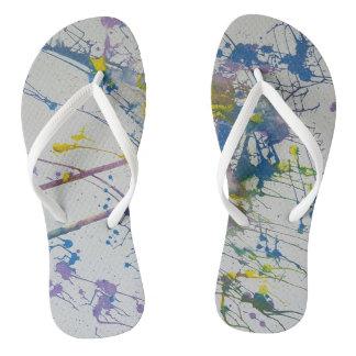 Flip Flops - modern art - multi-color