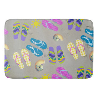 Flip Flops On The Beach Bath Mat