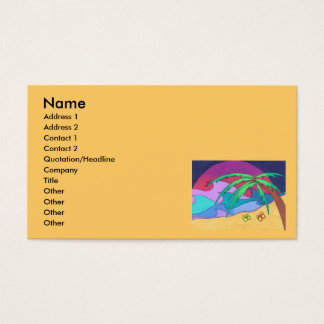 Flip Flops on the Sand Business Cards Templates