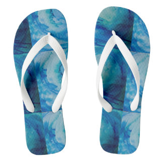 "Flip flops, original art ""sounds of the ocean"" thongs"