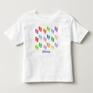"""Flip Flops"" Personalized Toddler T-Shirt"