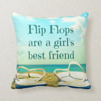 Flip Flops Quote Pillow