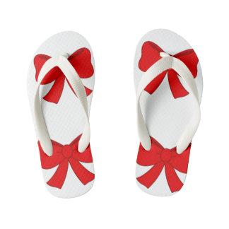Flip Flops, Red Bow Kids Kid's Thongs