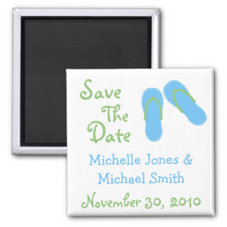 Flip Flops Save The Date Magnets (Blue / Green)