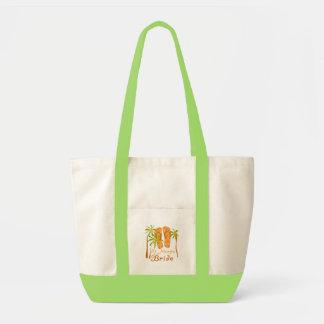 Flip Flops St. Martin Bride Canvas Bags