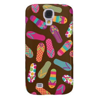 Flip Flops Summer Pern {brown} Samsung Galaxy S4 Case