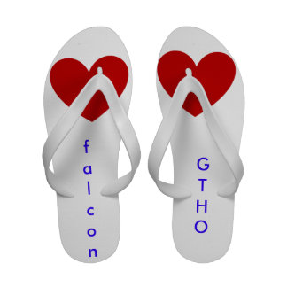 Flip flops with I love falcon gtho