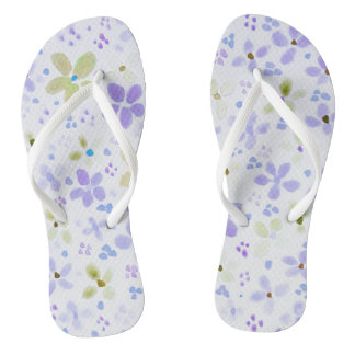 Flip flops with lavender flowers