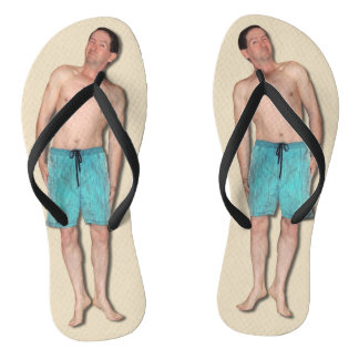 Flip Flops with tiny guy Thongs