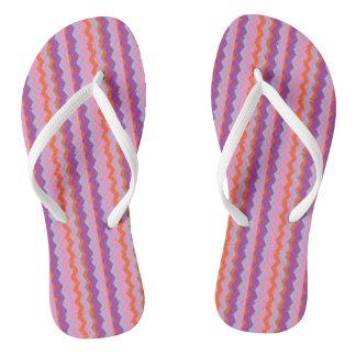 Flip Flops with zig zag design.