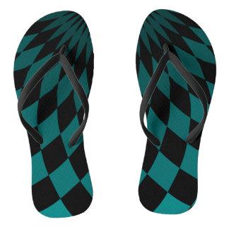 Flip Flops - Wonderland Floor Turquoise Thongs