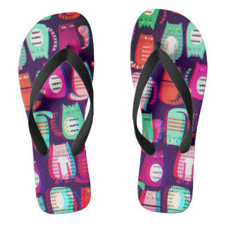 Flip Pop 3D Crazy Cats Unisex Flip Flops