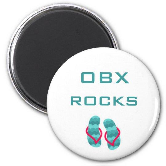 flipflops, OBX rocks Magnet