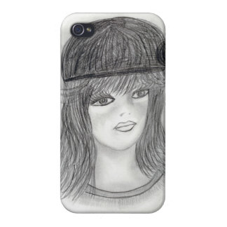 Flipped Hair Flapper iPhone 4/4S Covers