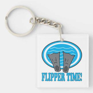 Flipper Time Key Ring