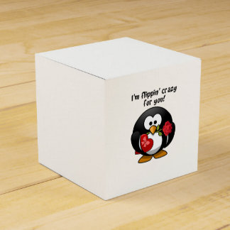 Flipping Crazy For You Valentine's Day Penguin Party Favour Boxes