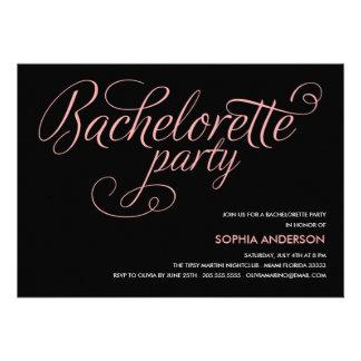 FLIRT BACHELORETTE PARTY INVITATION