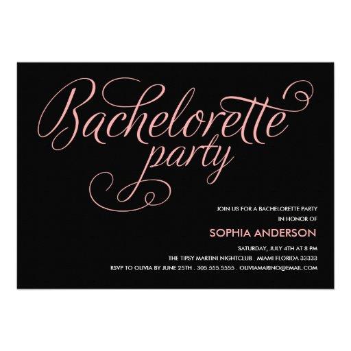 FLIRT  | BACHELORETTE PARTY INVITATION