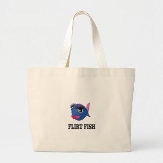 flirt fish large tote bag