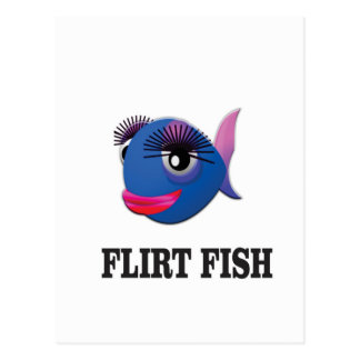 flirt fish postcard