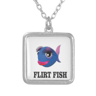 flirt fish silver plated necklace