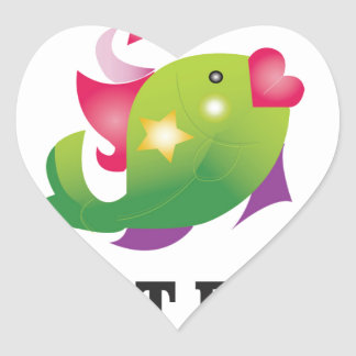 flirt fish yeah heart sticker