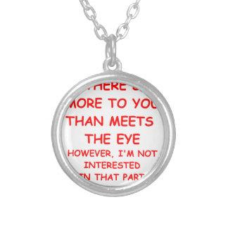 flirt round pendant necklace