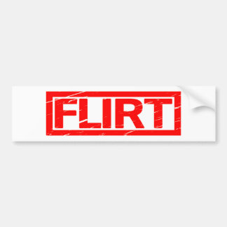 Flirt Stamp Bumper Sticker