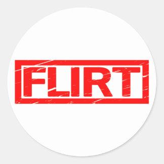 Flirt Stamp Classic Round Sticker